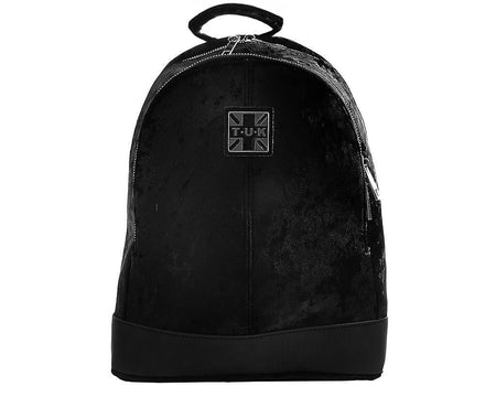 Black Crushed Velvet Backpack