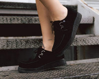 Black Suede Viva II Low Creeper