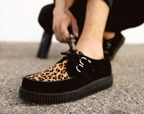 Black & Leopard Viva II Low Creeper