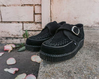 Black Suede Monk Buckle Viva II Creeper