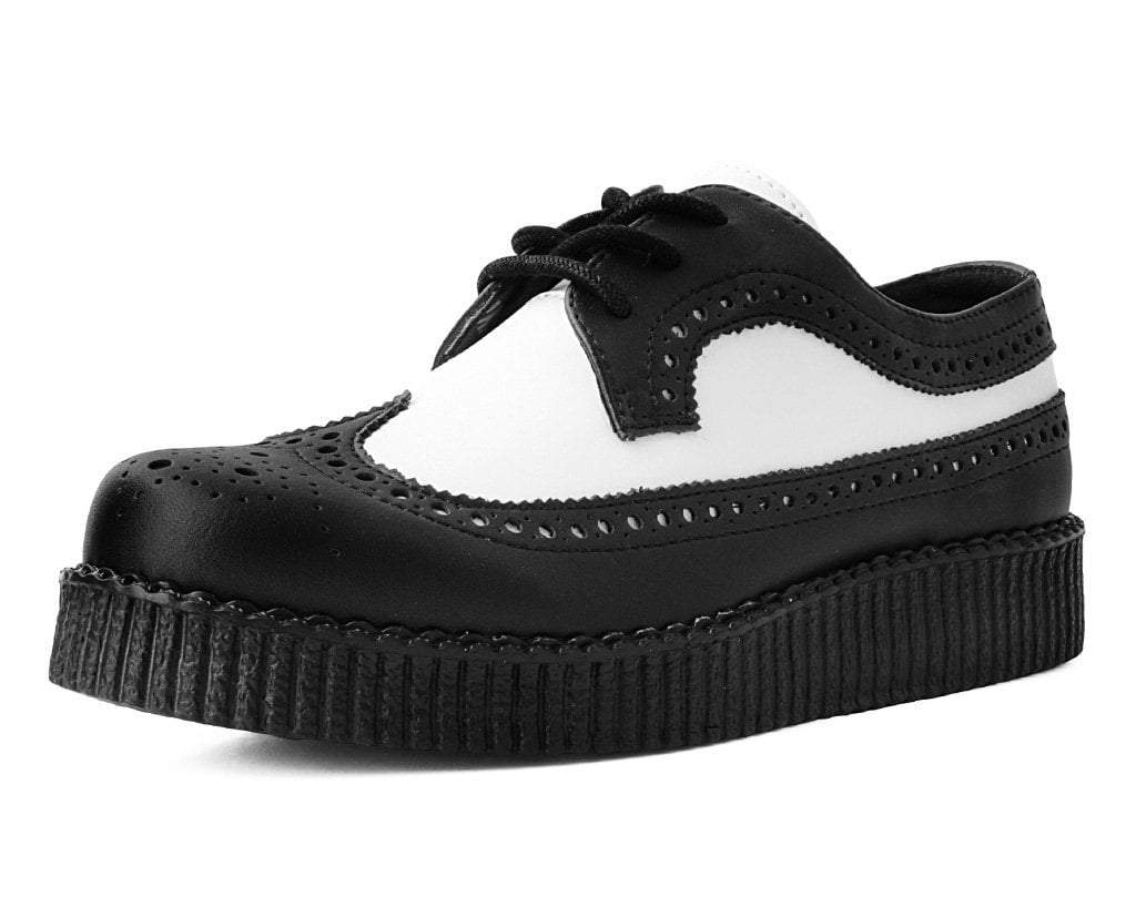 Black & White Wingtip Tie TUKskin™ Viva II Low Creeper