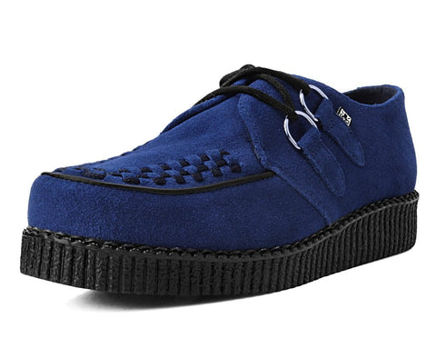 Navy Cow Suede Viva Low D-Ring Interlace Creeper