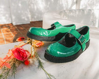 Glossy Green Patent Mary Jane