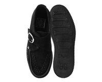 Black Cow Suede Monk Buckle Viva II Creeper