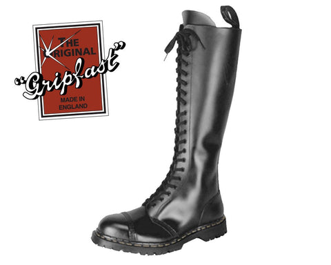Gripfast Brand Black 20 Eye Steel Toe Boot - T.U.K.