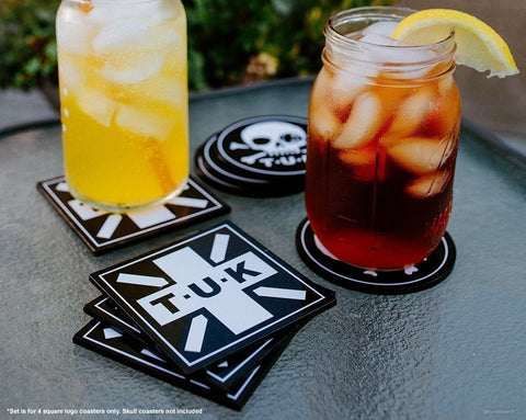 T.U.K. Square Logo Coaster 4-Pack