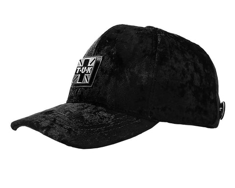 T.U.K. Black Crushed Velvet Hat