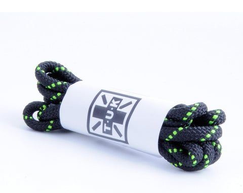 75 CM Black & Neon Green Round Laces
