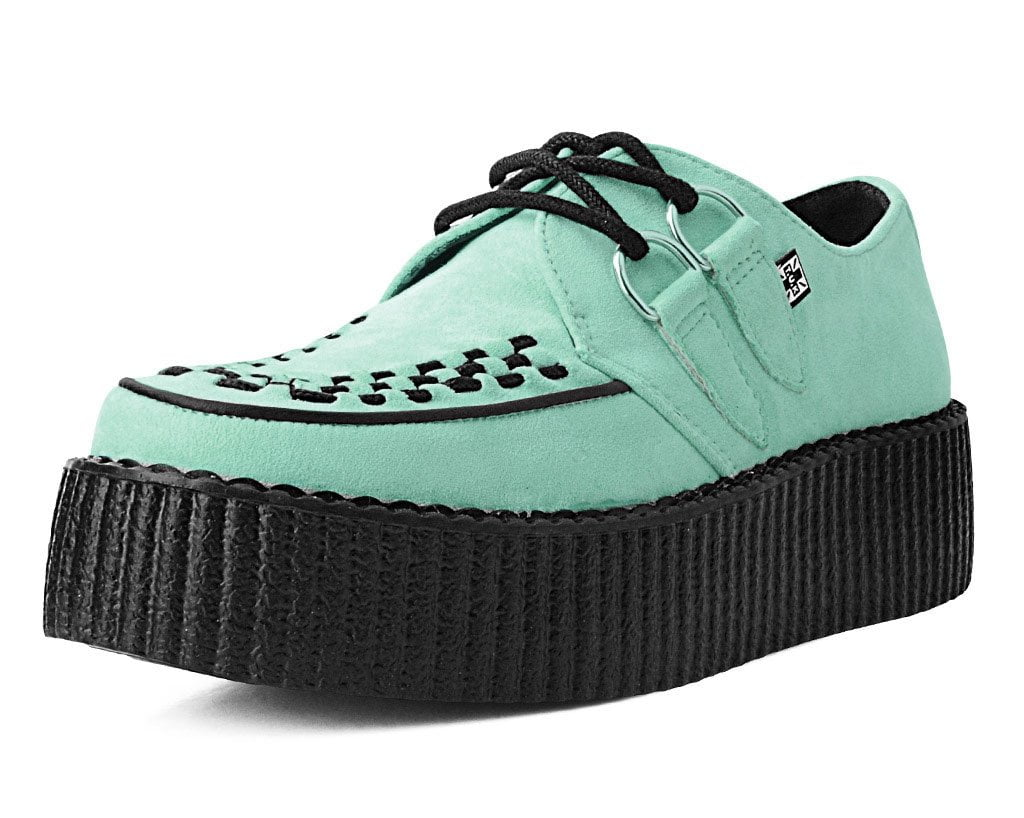 Mint Suede D-Ring Interlace Creeper
