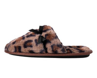 Brown Leopard Bow Slipper