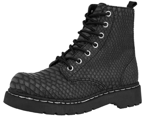 Dragon Embossed Boots - T.U.K.