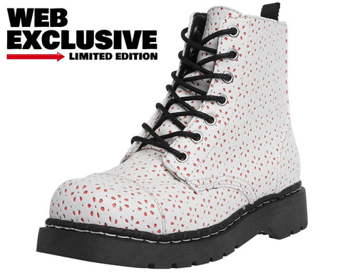White Flower Perforated Boots - FINAL SALE! - No Returns.