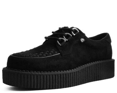 Black Faux Suede Anarchic Creeper