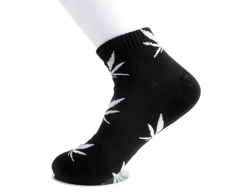 Black & White Weed Women's Sock