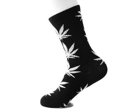 Black & White Weed Men's Sock
