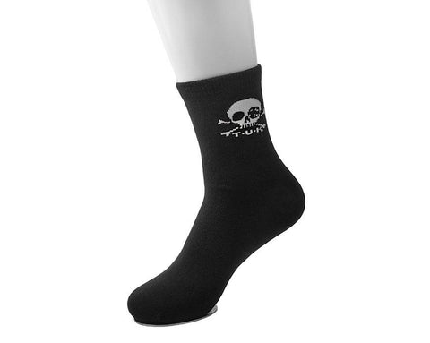 Black T.U.K. Skull Logo Men's Sock