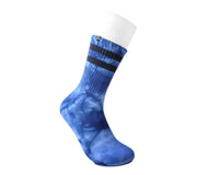Tie-Dye Blue Tube Sock