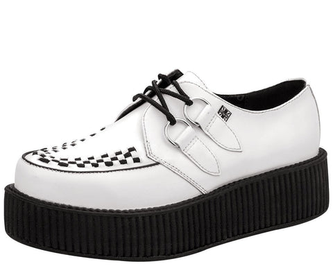 White Leather Creeper - T.U.K.