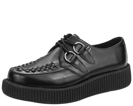 Black Low Sole Viva Creeper - T.U.K.