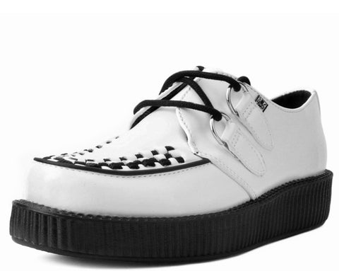 White Leather Viva Low Creeper
