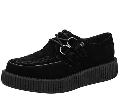 Black Suede Low Viva Creeper