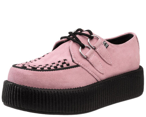 Baby Pink Suede Creepers - T.U.K.