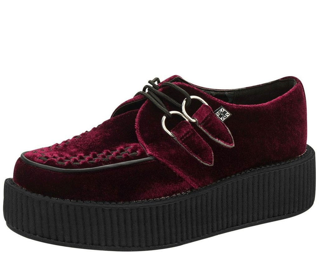 708775b79fa601 Womens Rihanna Riri Fenty Platform Creeper Velvet Pack Burgundy Black Grey  Color Brand Ladies Classic Casual Shoes 36 39 Mens Dress Shoes Platform  Shoes .