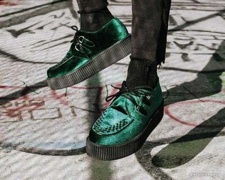 Emerald Green Velvet Viva Mondo Creeper