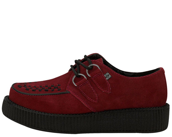 Burgundy Suede Creepers