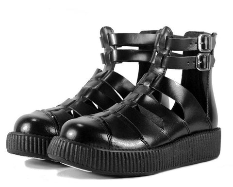 Black Gladiator Creeper Sandals