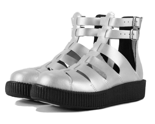 Silver Gladiator Creeper Shoes