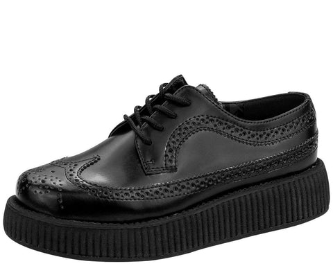 Black Brogue Wingtip Creepers - T.U.K.