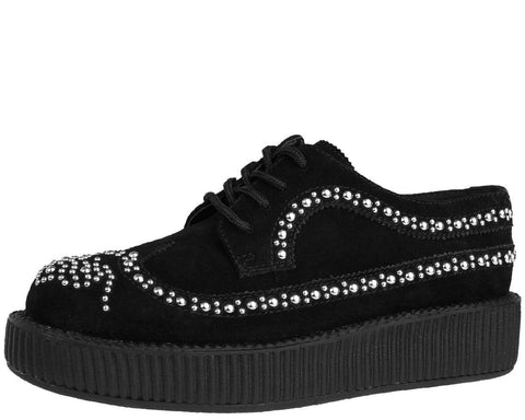 Studded Wingtip Creepers - T.U.K.