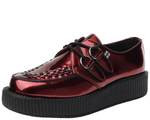 Metallic Burgundy Creepers