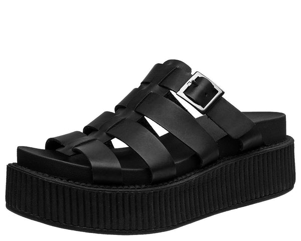 Black Fisherman Sandal - T.U.K.