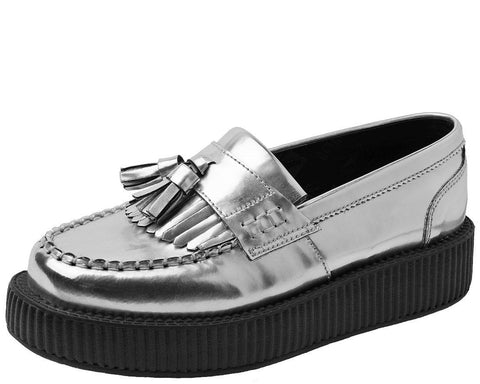 Metallic Silver Loafer