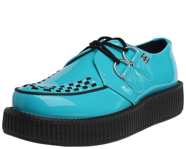 Teal Patent Creeper