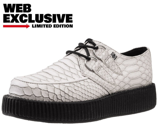 White Dragon Embossed Creepers - T.U.K.