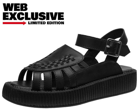 Black Creeper Sandal - T.U.K.