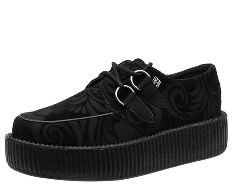 Black Burnout Velvet Creeper - T.U.K.