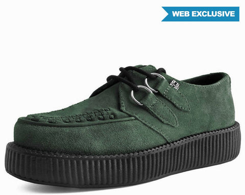 Moss Suede Creeper