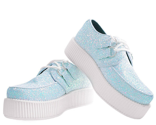 White Iridescent Glitter Creeper