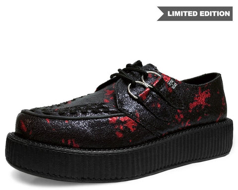 Black & Red Paint Splatter Creeper