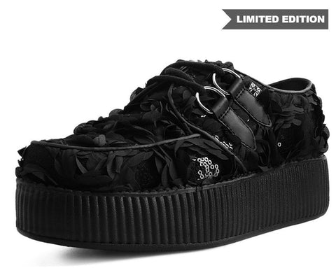 Black Flower Mesh Creeper