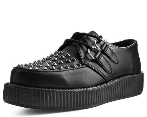 Black TUKskin™ Studded Viva Low Creeper