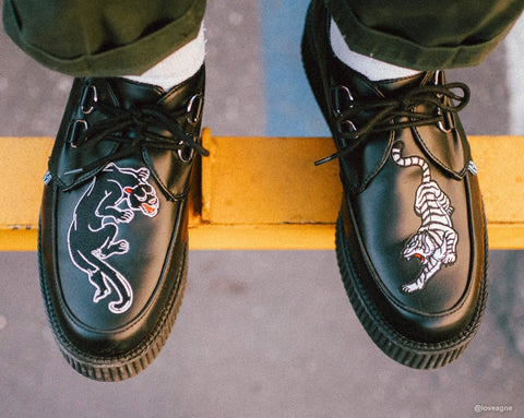Black TUKskin™ Panther & Tiger Viva Low Creeper