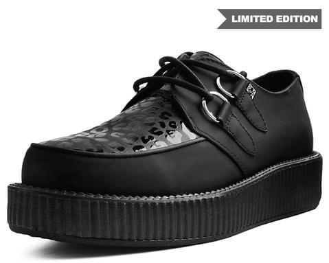 Black & Leopard Patent Viva Low Creeper