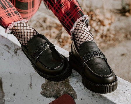 Black TUKskin™ Studded Viva Loafer Creeper