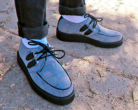 Grey Plaid Viva Low Creeper