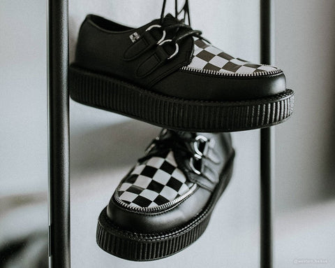 Black & White Checkered Viva Mondo Creeper